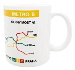 Hrnek s motivem linky metra B