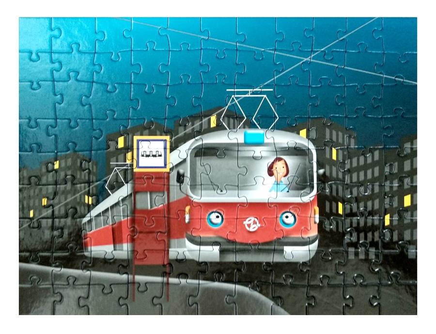 Dětské puzzle – tramvaj