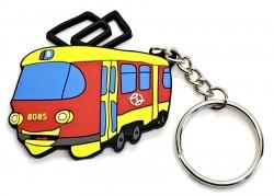 """Přívěsek """"Veselá tramvaj"""" (PVC)"""