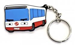 """Přívěsek """"Zamyšlený autobus"""" (PVC)"""