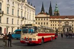 Jízdenka: muzejní bus Karosa ŠM 11 19. 10. 2019 – nástup Vozovna Střešovice