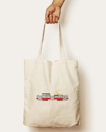 Bavlněná taška s motivem tramvaje T6A5