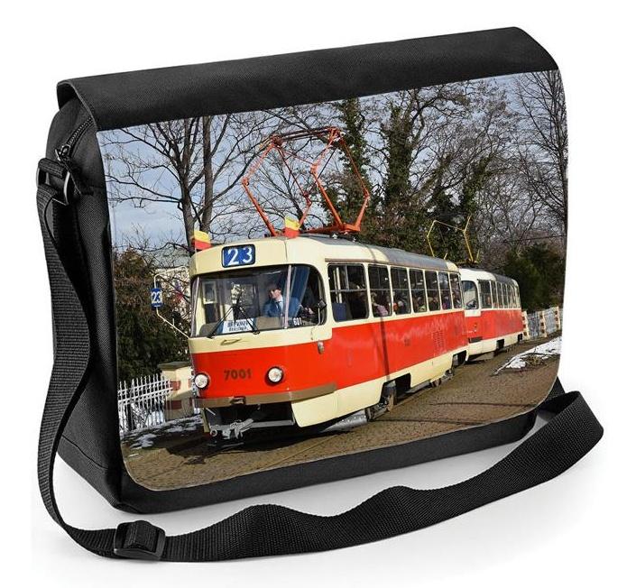 Taška přes rameno s tramvají Tatra T3SU ev. č. 7001