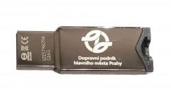Kovový USB flash disk s logem DPP 16 GB
