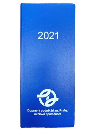Plánovací diář s logem DPP 2021