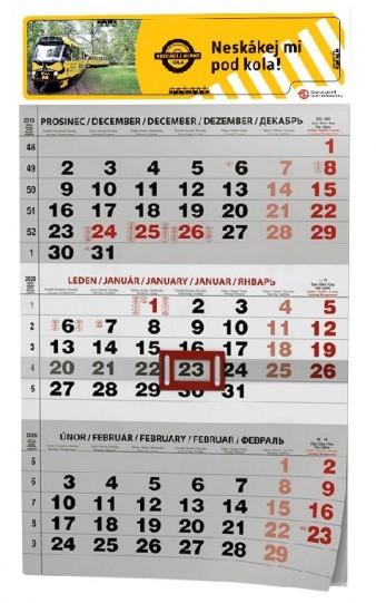 Nástěnný tříměsíční kalendář 2020