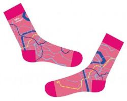 Růžové ponožky s motivem linek Maappi pro DPP