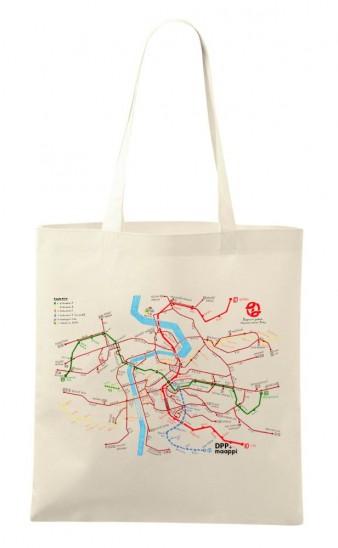 Plátěná taška se schématem linek Maappi pro DPP