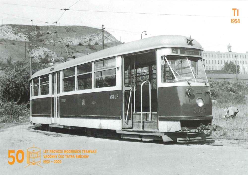 Pohlednice Tramvaj T1 (č. 5027)