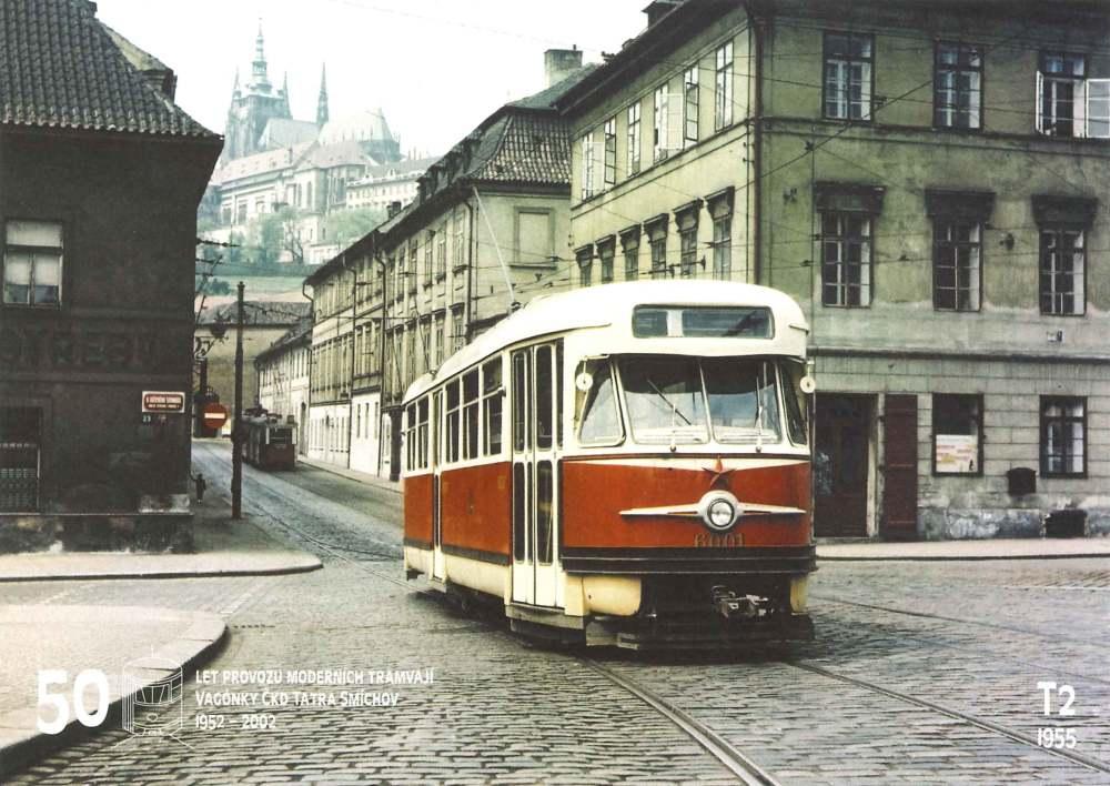 Pohlednice První prototyp tramvaje T2 (č. 6001)