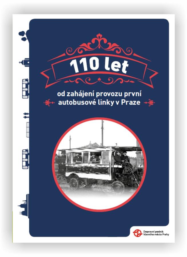 Brožura 110 let od zahájení provozu první autobusové linky v Praze