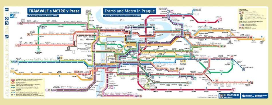 """Schéma metra a tramvají """"Jezevčík"""""""
