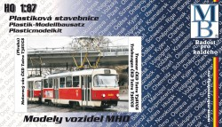 Stavebnice modelu tramvaje ČKD Tatra T3 (linka 24, H0)