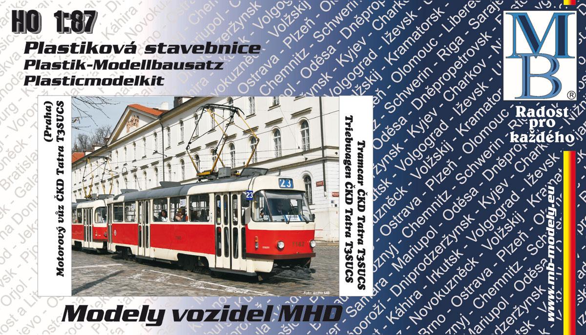 Stavebnice modelu tramvaje ČKD Tatra T3 (linka 23, H0)