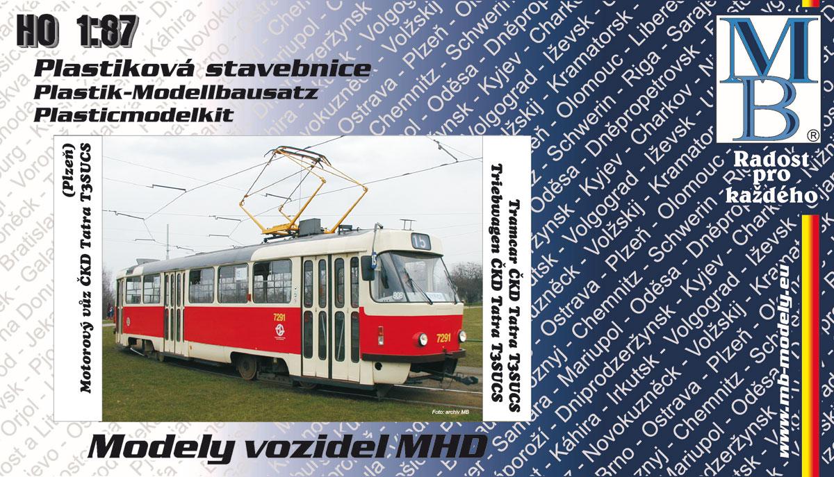 Stavebnice modelu tramvaje ČKD Tatra T3 (linka 15, H0)