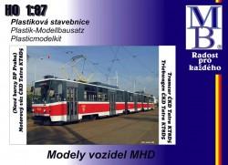 Stavebnice modelu tramvaje ČKD Tatra KT8D5 (H0)