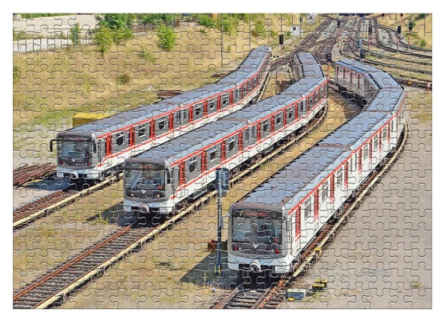 Puzzle Soupravy metra 81-71M (A3)