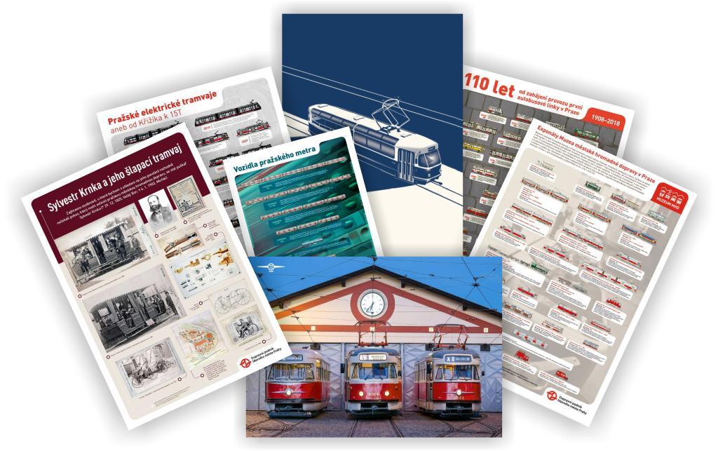 Sada 7 dopravních plakátů