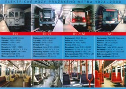 Pohlednice Elektrické vozy pražského metra 1974 – 2009