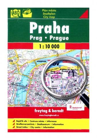 "Plán Praha 1 : 10 000 ""bez brýlí"""