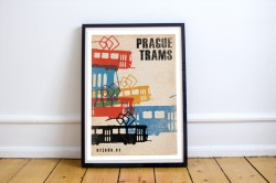 "Plakát ""Prague trams"""