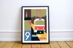 """Plakát """"Žižkovská devítka"""" (A2)"""