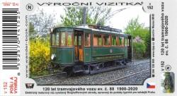 Turistická vizitka 120 let tramvajového vozu ev. č. 88