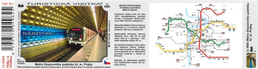 Turistická vizitka Metro Dopravního podniku hl. m. Prahy