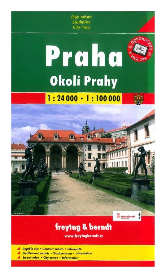 Plán Praha 1 : 24 000 a okolí 1 : 100 000