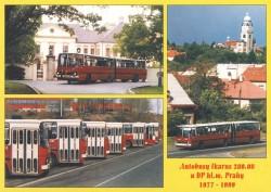 Pohlednice Autobusy Ikarus 280.08 u DPP 1977–1999