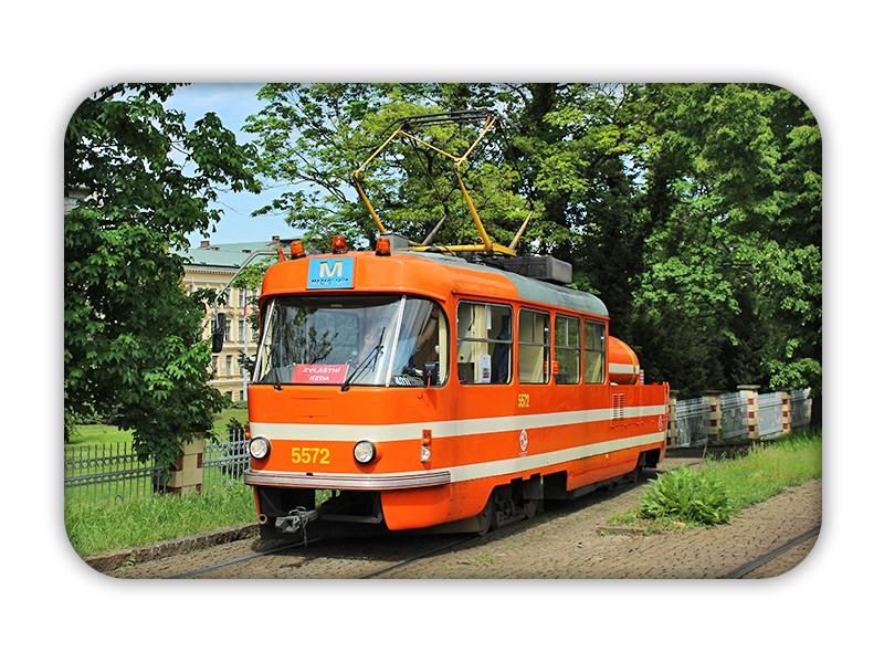 Magnetka s mazací tramvají
