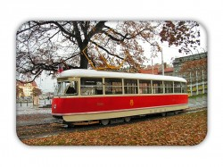 Magnetka s historickou tramvají ČKD Tatra T1