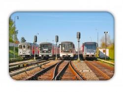 Magnetka s vozy pražského metra