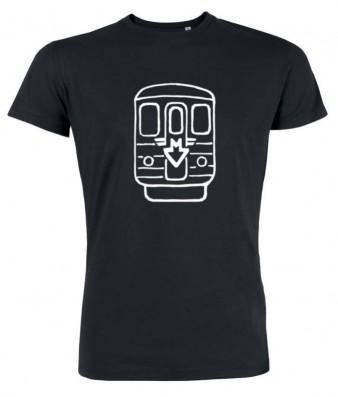 Černé pánské svítící triko s metrem Ečs