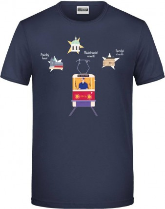 "Charitativní pánské triko ""Klokart"" (modré navy)"