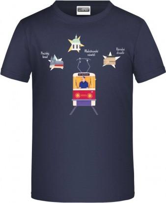 """Charitativní dětské triko """"Klokart"""" (modré navy)"""