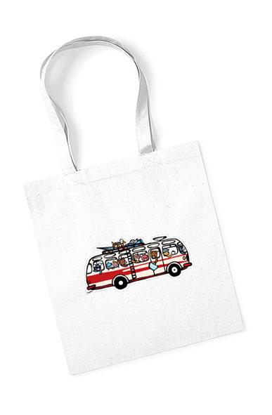 Bavlněná taška s autobusem RTO se zvířátky