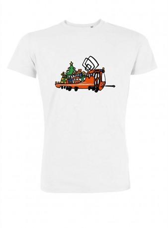 """Bílé pánské triko s vánoční """"Mazačkou"""""""