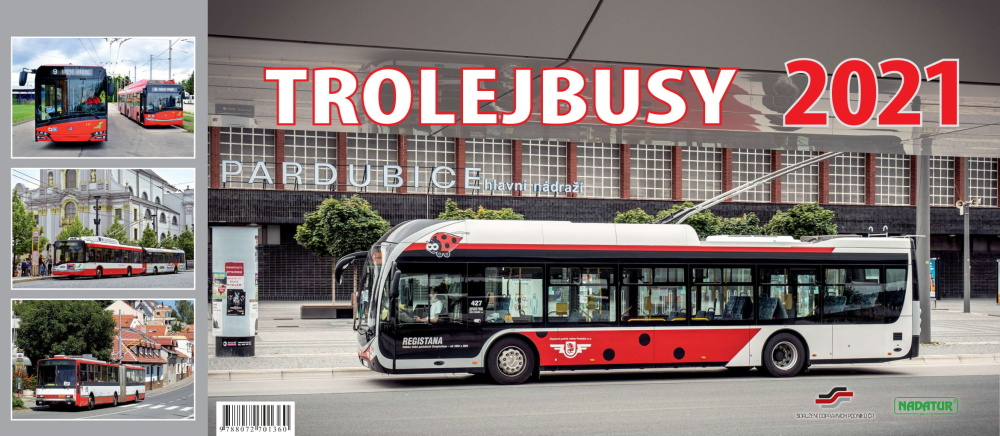 Stolní kalendář Trolejbusy 2021