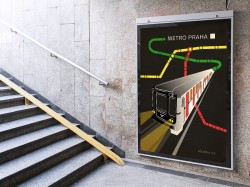"""Plakát """"Metro Praha"""""""