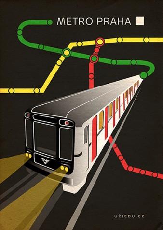 "Pohlednice ""Metro Praha"""