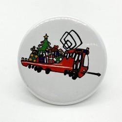 Kulatá magnetka s vánoční Mazačkou