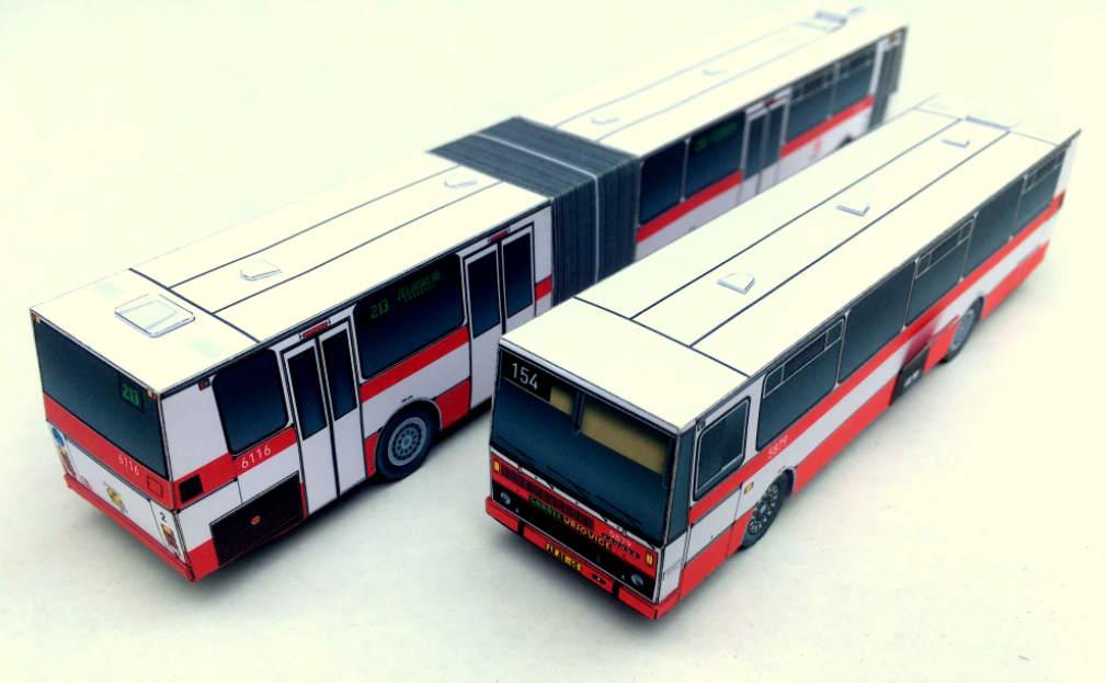 """Papírové modely """"Autobusy Karosa řady 700"""""""