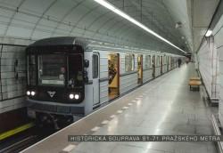 Pohlednice Historická souprava řady 81-71 pražského metra