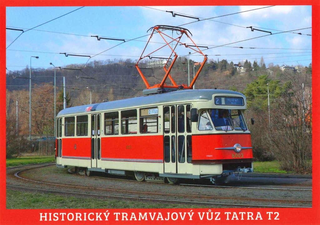 Pohlednice Historický tramvajový vůz Tatra T2 (č. 6003)