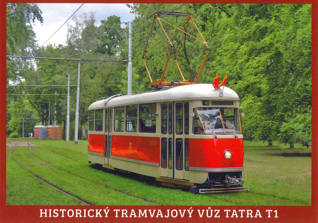 Pohlednice Historický tramvajový vůz Tatra T1 (č. 5002)