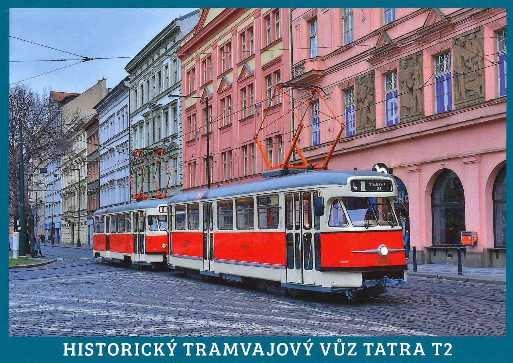 Pohlednice Historické tramvajové vozy Tatra T2 (č. 6003 a 6004)