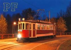 Pohlednice s tramvají č. 78 Bovera a motivem PF