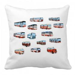 Polštář s obrázky autobusů