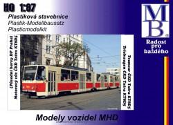 Stavebnice modelu tramvaje ČKD Tatra KT8D5 (původní barvy DP, H0)